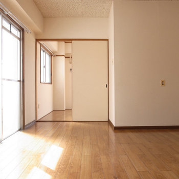 日当りもいいお部屋 (※写真は反転間取り別部屋のものです)