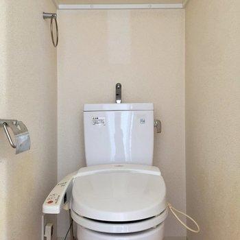 トイレはウォシュレット付きです※写真は10階の同間取り別部屋のものです