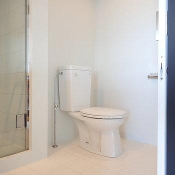 トイレは突っ張り棒とカーテンで仕切りたい。