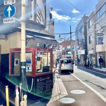 通り沿いにはカフェもありました。※写真は前回募集時のものです