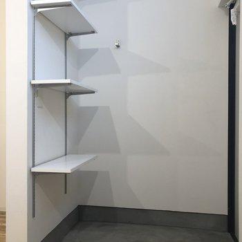 自分の好きな位置に棚を動かしてくださいね。