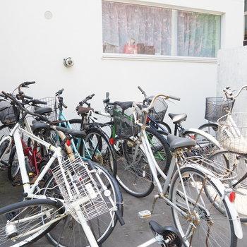 駐輪スペース、沢山〜