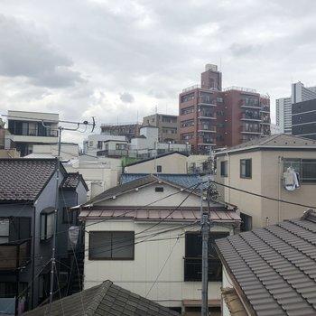 こちらは、ベッドルームからの眺望。