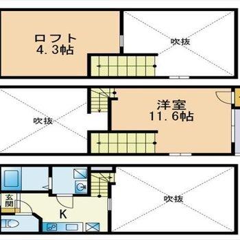 3層仕上げのお部屋