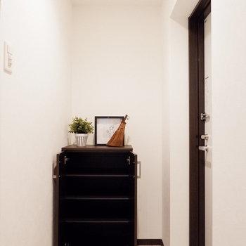 シューズボックス横に傘を置くこともできますね。※写真は2階同間取り別部屋のものです