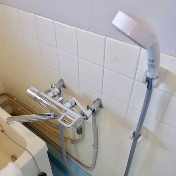 シャワーも新調されてますね。清潔感。