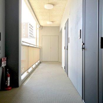 共用廊下、しっかり清掃が行き届いています!