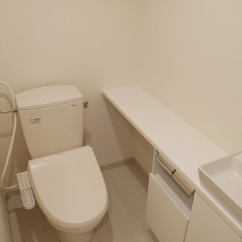 トイレには手洗いもついてるんです!!