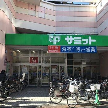 【椎名町駅前】深夜一時まで営業のスーパーがあります
