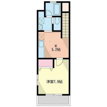 キッチンにゆとりがある1Kのお部屋。