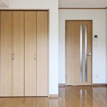 向かい側はクローゼット※写真は2階の同間取り別部屋のものです