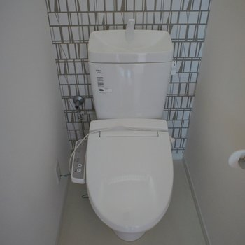トイレのクロスはシンプルだけどお洒落に。。。