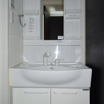 洗面台は大きくて使いやすそう!