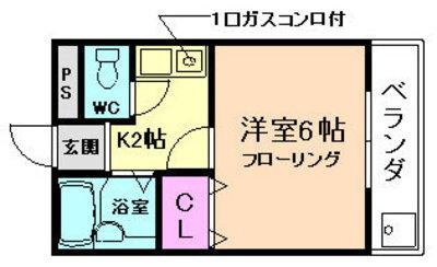 トヨノ第5マンションの間取り