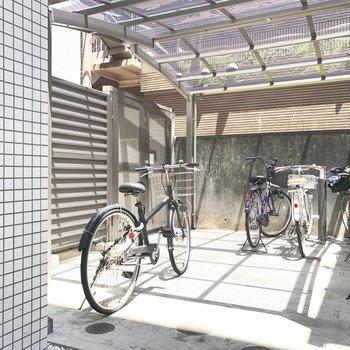駐輪スペースがこちら。