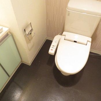 洗面台とトイレは同居