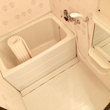 お風呂はどこかレトロチック。(※写真は1階の同間取り別部屋のものです)