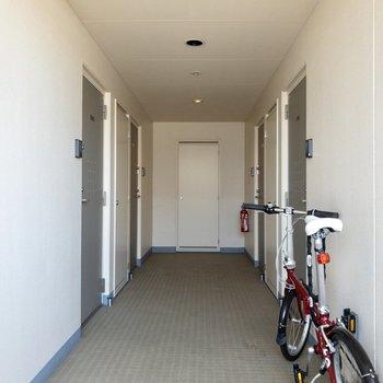 今回のお部屋は左奥のドアの先に。