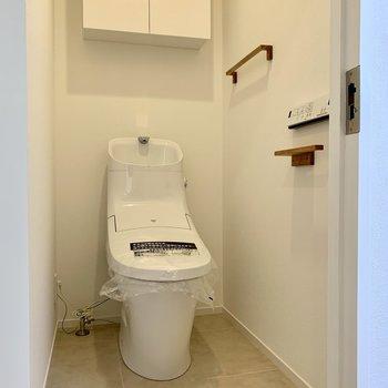 温水洗浄つきのトイレ。