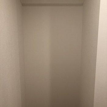 ベッドルーム奥の収納。