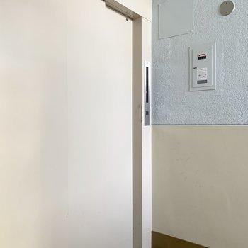 嬉しいことに、団地だけどエレベーター付き!