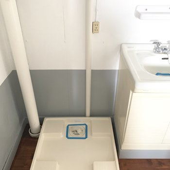洗濯パンは脱衣所に。(※写真のお部屋は改装工事中です)