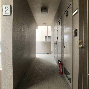 2階の共用部。