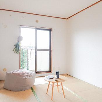 ※家具はサンプルですベッドルームとしても使いやすそう。※写真は3階の同間取り別部屋のもの、家具はサンプルです