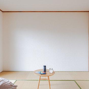 和室も6帖あって広い。※写真は3階の同間取り別部屋のもの、家具はサンプルです