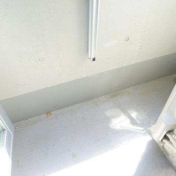 バルコニーは1人ではゆったり!※写真は3階の同間取り別部屋のものです
