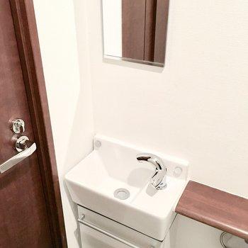 手洗い場も付いてます♪