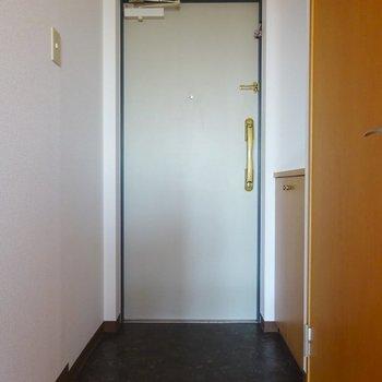 玄関には2~3足×5段分のシューズボックス。(※写真は7階の同間取り別部屋のものです)