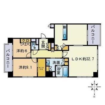 18階建てのマンションの最上階!リビングは32帖超え!
