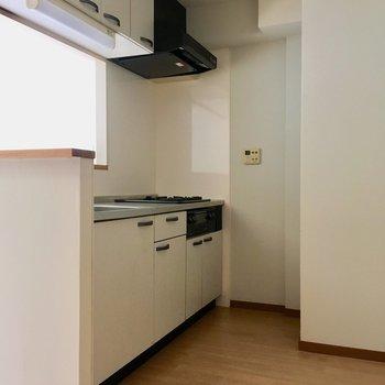 キッチンスペース、後ろに冷蔵庫などおけます!