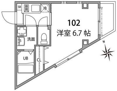 モンシャトー高井戸Ⅱ の間取り