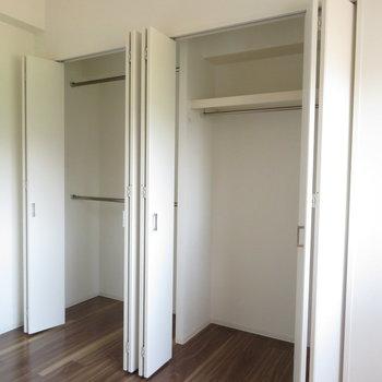 クローゼットは大容量※写真は5階同間取り別部屋のものです