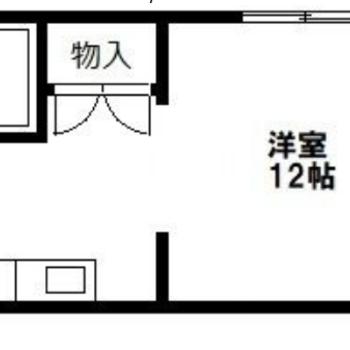 1人暮らしにぴったりな広さのワンルーム!