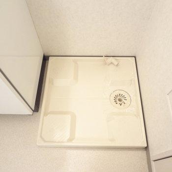 洗濯パンもしっかりあります。※写真は3階の同間取り別部屋のものです