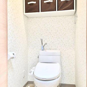 トイレには収納BOX付き♪
