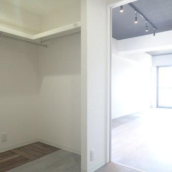 ここがこのお部屋の肝。脱衣所隣にウォークスルーあり