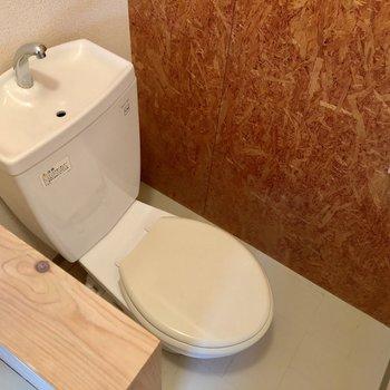 脱衣所の中にトイレあります!(※写真は清掃前のものです)