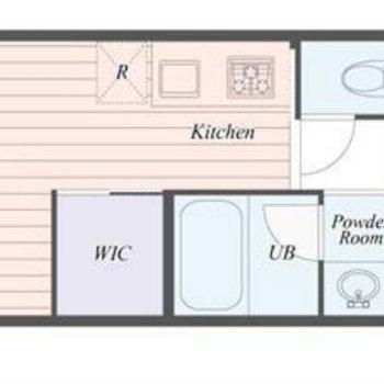 シンプルな1Rのお部屋です。