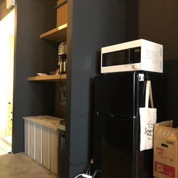 【共用部】冷蔵庫も電子レンジもご自由にお使いいただけます!