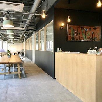 カフェのようなオフィス。新しい挑戦の場所へ。