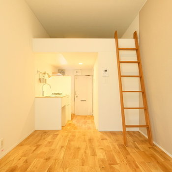 ロフトは大容量の収納代わり!!※写真は似た間取りの別部屋のものです