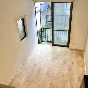 上からは居室が一望できます。