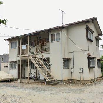 外観は昭和レトロ。昔ながらのアパートです。