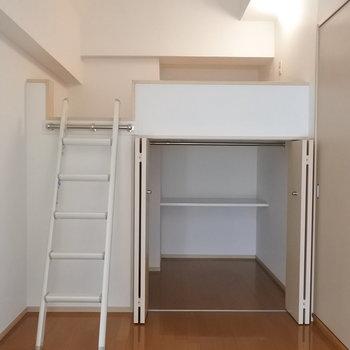 こちらにありました、ロフト!※写真は6階の反転間取り別部屋のものです