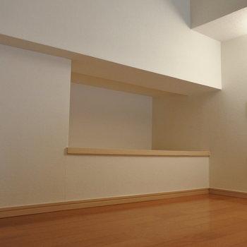 ロフトも収納として使いますか※写真は6階の反転間取り別部屋のものです