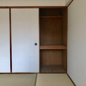 収納はココだけ!実際にはこの2倍のスペースがありますよ。